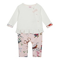 Baker by Ted Baker - Baby Girls' Off White Mockable Quilted Romper Suit