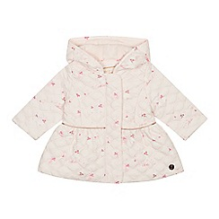 Baker by Ted Baker - Baby girls' light pink bunny print quilted jacket