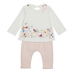 Baker by Ted Baker - Baby Girls' Light Pink 'Baker' Print Top and Bottoms Set
