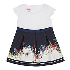 Baker by Ted Baker - Baby Girls' Navy Bird Print Dress
