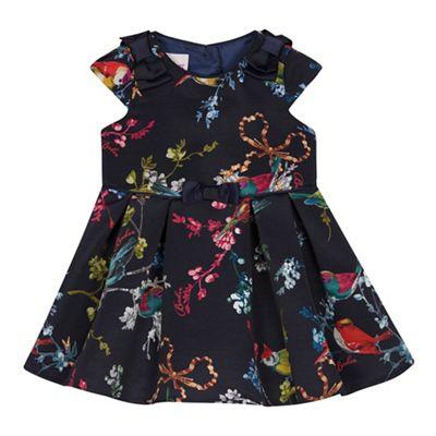 Baker By Ted Baker Girls Navy Bird Print Dress Debenhams