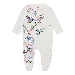 Baker by Ted Baker - Baby Girls' Off White Printed Sleepsuit