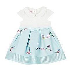 Baker by Ted Baker - Baby Girls' Light Green Bird Print Dress