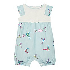 8b7fdc6a21ac Baker by Ted Baker - Baby Girls  Light Green Bird Print Romper Suit