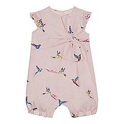 Baker by Ted Baker - Baby Girls' Light Pink Bird Print Romper Suit