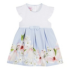 Baker by Ted Baker - Baby Girls' Light Blue Floral Print Mockable Dress