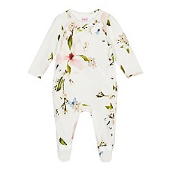 Baker by Ted Baker - Baby Girls' Light Yellow 'Harmony' Sleepsuit