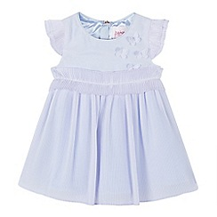 Baker by Ted Baker - Baby Girls' Light Blue Plisse Dress