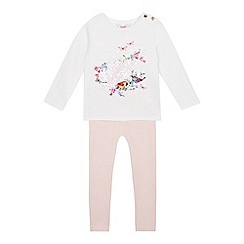 Baker by Ted Baker - Girls' Off White Bird Print Top and Leggings Set