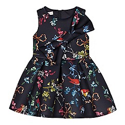Baker by Ted Baker - Girls' Navy Floral Bird Print Prom Dress