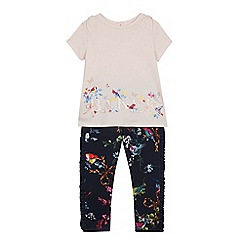 Baker by Ted Baker - Girls' Pink Printed Top and Bottoms Set