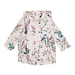 Baker by Ted Baker - Girls' Light Pink Floral Shower Resistant Jacket