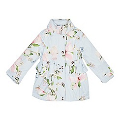 Baker by Ted Baker - Girls' Blue Floral Print Shower Resistant Coat