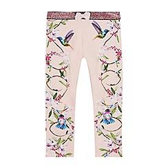 Baker by Ted Baker - Girls' Pink Floral Print Leggings