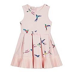 Baker by Ted Baker - Girls' Light Pink Floral Bird Print Dress