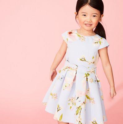 deede285ef989a Baker by Ted Baker - Girls  Light Blue Floral Print Dress