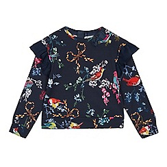 Baker by Ted Baker - Girls' Navy Floral Print Sweater