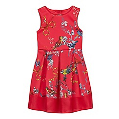 3e3572ae3c9d1a Baker by Ted Baker - Girls  Red Floral Bird Print Dress