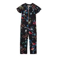 6b4b72c34ca99f Baker by Ted Baker Girls  Light Blue Floral Print Jumpsuit and T ...