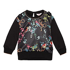Baker by Ted Baker - Girls' Black Bird Print Sweatshirt
