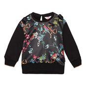 319683f0723c3f Baker by Ted Baker - Girls  Black Bird Print Sweatshirt