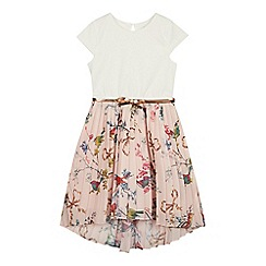 Baker by Ted Baker - Girls' Light Pink Floral Print Dress