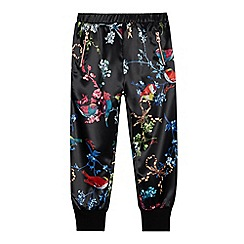 Baker by Ted Baker - Girls' Black Floral Print Trousers
