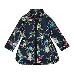 Baker by Ted Baker - Girls' Navy Floral Shower Resistant Jacket