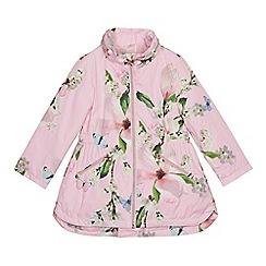 Baker by Ted Baker - Girls' Light Pink Floral Shower Resistant Jacket