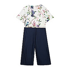 1f2779db48 Baker by Ted Baker - Girls  Navy Floral Print Jumpsuit