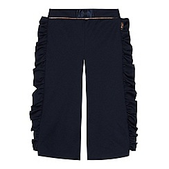 Baker by Ted Baker - Girls' Navy Ruffle Trousers