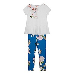 Baker by Ted Baker - Girls' Bright Blue Pleated Top and Leggings Set