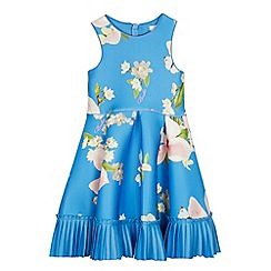 Baker by Ted Baker - Girls' Bright Blue Floral Scuba Dress