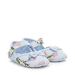 Baker by Ted Baker - Baby Girls' Light Blue Floral Pumps