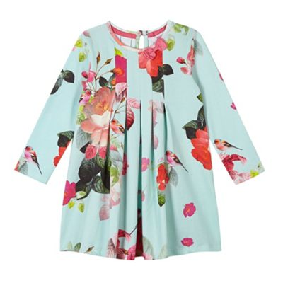 Baker By Ted Baker Girl S Pale Green Floral Print Pleated