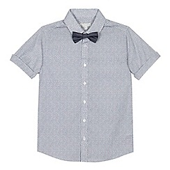 RJR.John Rocha - Boys' white and navy printed shirt and bow tie set