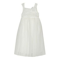RJR.John Rocha - Girls' ivory floral applique dress