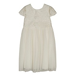 RJR.John Rocha - Girls' ivory tulle lace dress