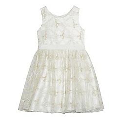 RJR.John Rocha - Girls' ivory floral embroidered dress