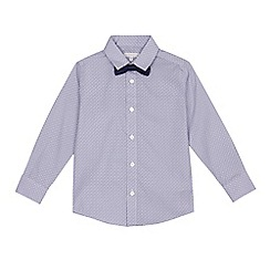 RJR.John Rocha - Boys' blue long-sleeved geometric shirt and bow tie set