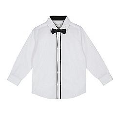 RJR.John Rocha - Boys' white long sleeve shirt with bow tie set