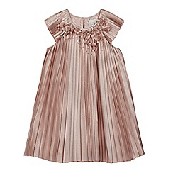 RJR.John Rocha - Girls' pink pleated floral dress