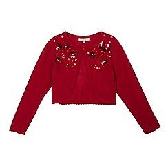 RJR.John Rocha - Girls' red sequin embellished cardigan