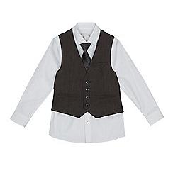 RJR.John Rocha - Boys' grey birdseye waistcoat, shirt and tie set