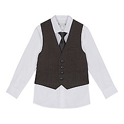 RJR.John Rocha - Boys' grey bicycle print waistcoat, shirt and tie set