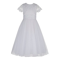 RJR.John Rocha - Girls white mockable bolero dress