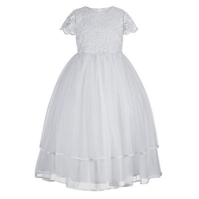 Debenhams flower girl dresses white and yellow