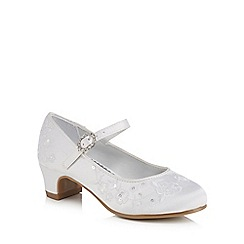 RJR.John Rocha - Girls' white floral embroidered heeled shoes