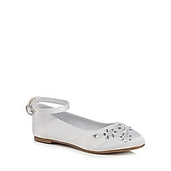 RJR.John Rocha - Girls' white jewel embellished pumps