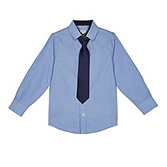 RJR.John Rocha - Boys' light blue Oxford shirt with a tie